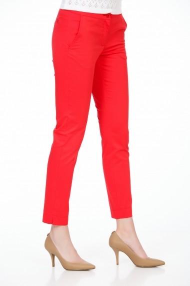 Pantaloni drepti Be You 3307 rosu