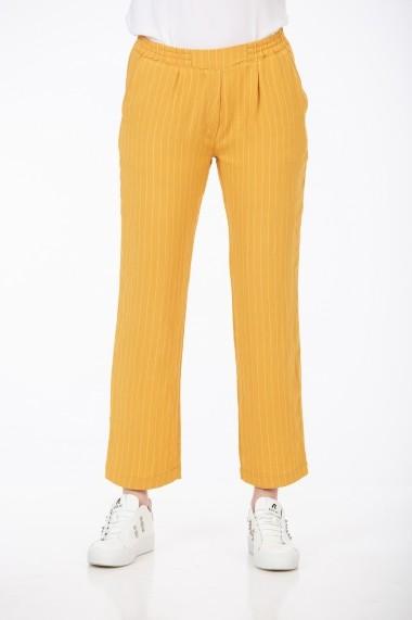 Pantaloni drepti cu dungi Be You 3318 Galbeni