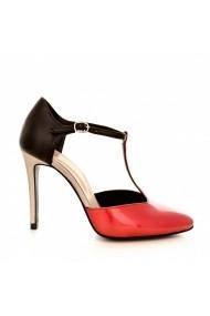 Pantofi cu toc CONDUR by alexandru 1403 corai