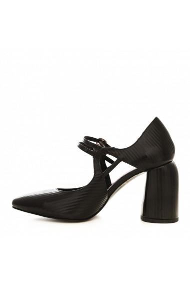 Pantofi cu toc CONDUR by alexandru 1808 negru