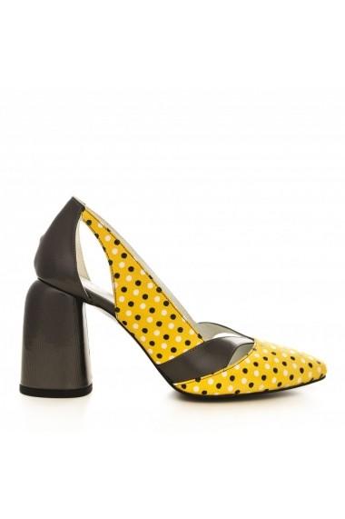 Pantofi cu toc CONDUR by alexandru 1809 gri