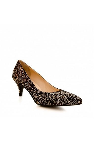 Pantofi cu toc CONDUR by alexandru 1200 negru