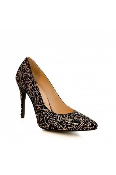 Pantofi cu toc CONDUR by alexandru 1422 negru