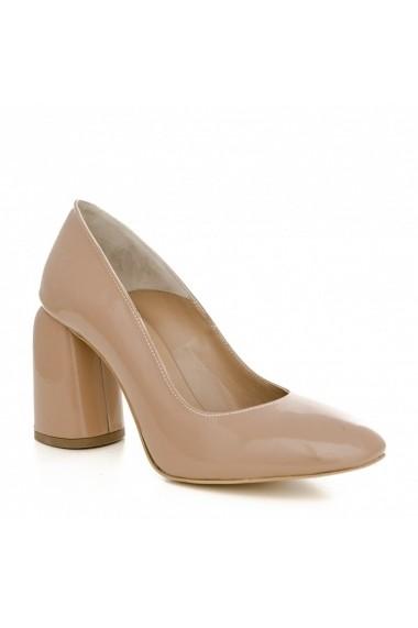 Pantofi cu toc CONDUR by alexandru 1810C nude