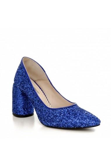 Pantofi cu toc CONDUR by alexandru 1820 albastru