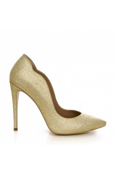Pantofi cu toc CONDUR by alexandru 1501 auriu