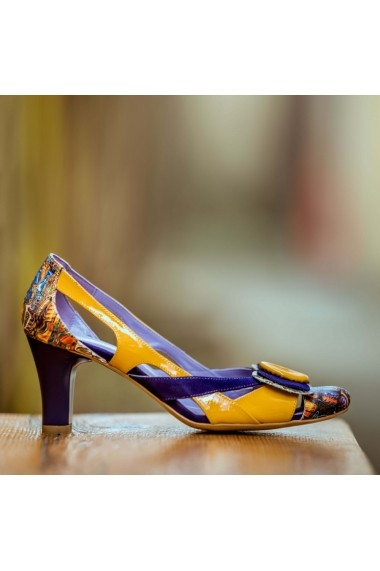 Pantofi cu toc CONDUR by alexandru 672 multicolor