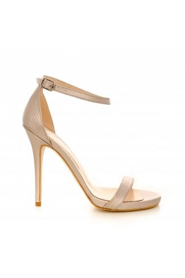 Sandale cu toc CONDUR by alexandru 1604 auriu
