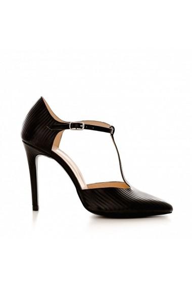 Sandale cu toc CONDUR by alexandru 1403 negru