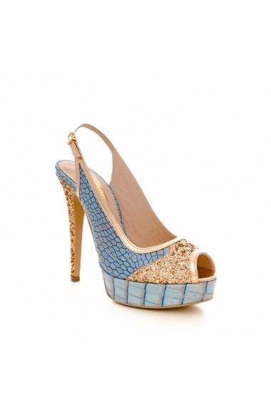 Sandale cu toc CONDUR by alexandru 1113 blu