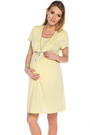 Camasa de noapte pentru gravide Italian fashion galben