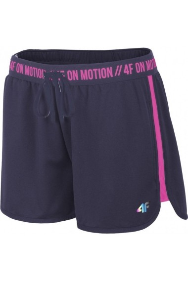 Pantaloni scurti pentru femei 4f  W H4L19 SKDF004 30S ciemny granat