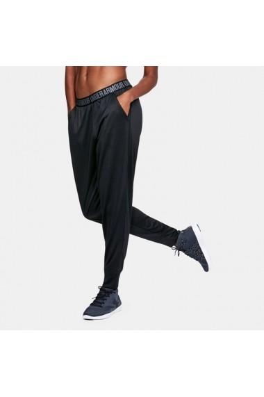 Pantaloni sport pentru femei Under armour  Pla Up Pant Solid W 1311332-001