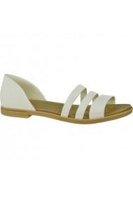 Sandale plate pentru femei Crocs Tulum Open Flat W 206109-1CQ