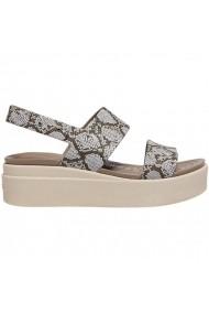Sandale pentru femei Crocs  Brooklyn Low Wedge W multi stucco 206453 93T
