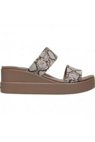 Sandale cu toc pentru femei Crocs Brooklyn Mid Wedge W 206219 93T