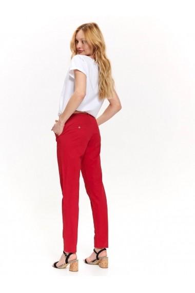Pantaloni drepti Top Secret TOP-SSP3234CE Rosu
