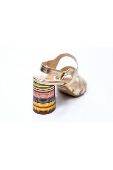 Sandale cu toc Thea Visconti S-311-19-311A Auriu
