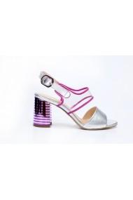 Sandale cu toc Thea Visconti S-329-19-311 Argintiu