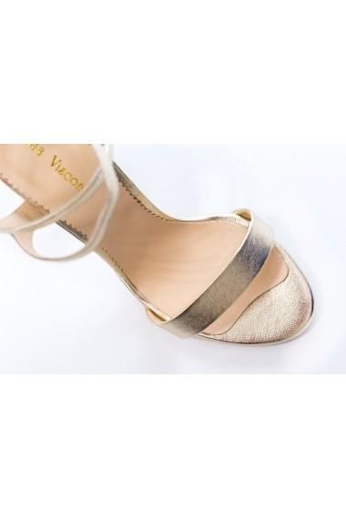 Sandale cu toc Thea Visconti S-333-19-310 aurii