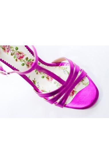 Sandale cu toc Thea Visconti S-335-19-321 Fucsia