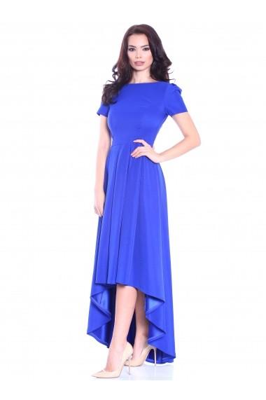 Rochie albastra Roserry asimetrica din tafta