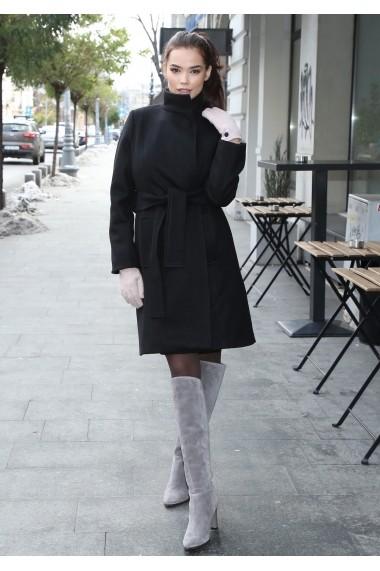 Palton elegant Roserry negru captusit