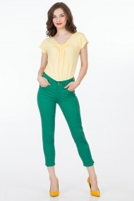 Pantaloni Sense Sonya FSE-XC145--252 verde inchis