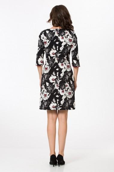 Rochie de seara mini Sense dreapta din poliester, cu imprimeu floral