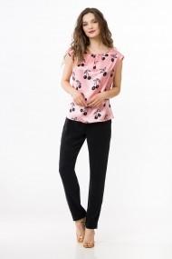 Bluza Sense imprimata Alberta roz deschis