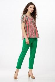 Bluza Sense imprimata Elise roz+verde
