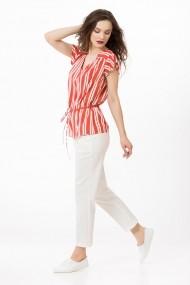 Bluza Sense vascoza Norah orange+alb