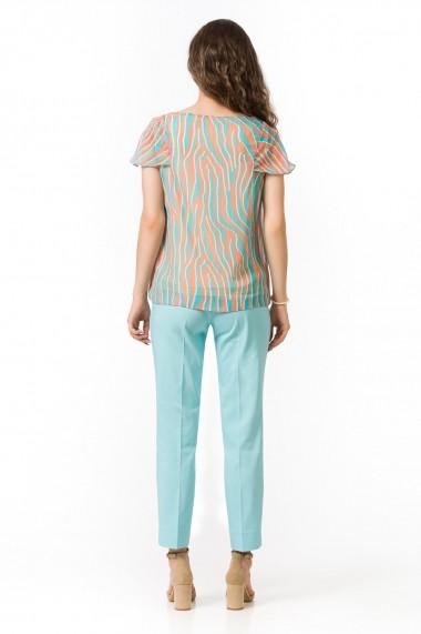 Bluza Sense imprimata Melissa verde+orange