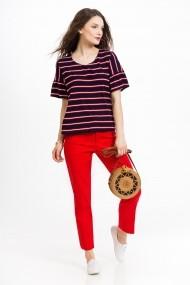 Bluza Sense jersey Amelia navy+rosu