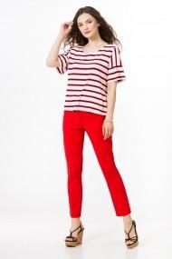 Bluza Sense jersey Amelia alb+rosu