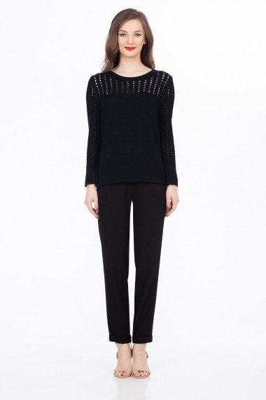 Bluza Sense tricotata Kendra negru