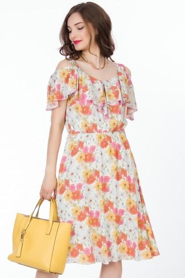Rochie de zi Sense Maggie FSE-CA4541--28 alb, roz