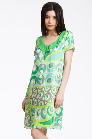 Rochie scurta Sense imprimata June verde
