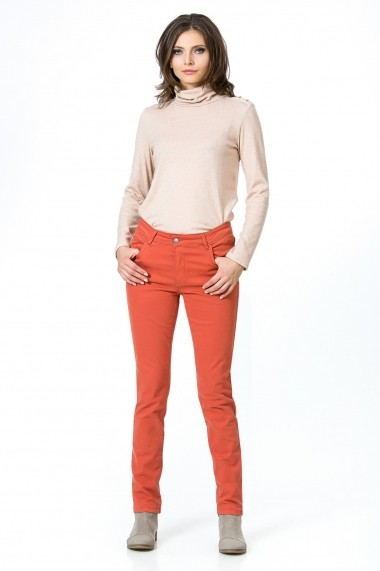 Pantaloni skinny Sense XC193 Martina portocaliu