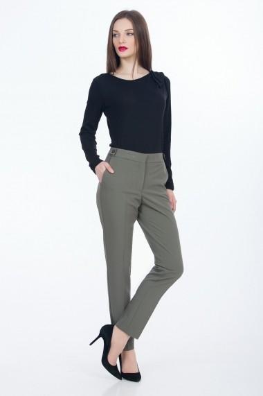 Pantaloni drepti Sense Julia CA4587 kaki