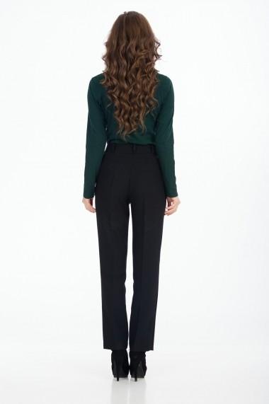 Pantaloni drepti Sense Romy negru