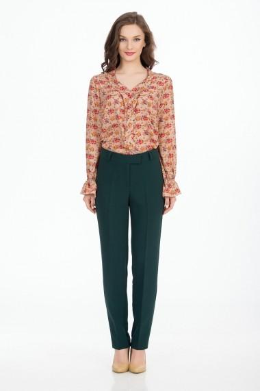 Pantaloni drepti Sense Romy verde