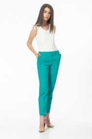 Pantaloni drepti Sense Lauren verde