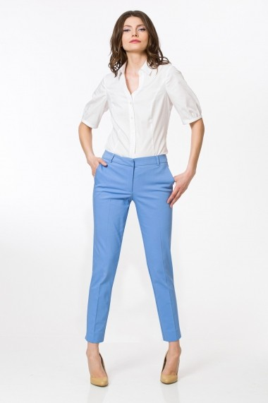 Pantaloni drepti Sense CA5042 Maddie Bleu