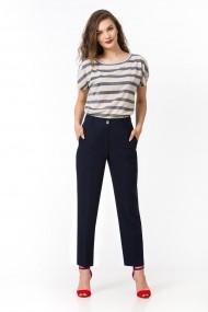 Pantaloni drepti Sense in cu vascoza Mara navy