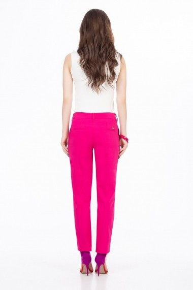 Pantaloni drepti Sense Lauren Fucsia