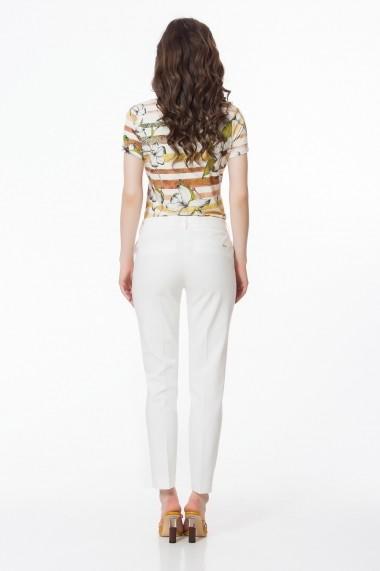 Pantaloni drepti Sense Lauren alb