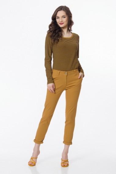 Pantaloni trei sferturi Sense Kristen Galben-mustar