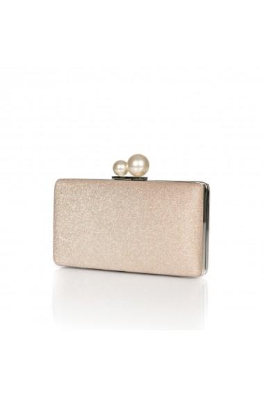 Clutch NISSA cu inchizatoare tip perla Auriu