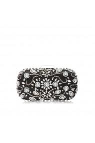 Clutch NISSA elegant cu pietre stralucitoare Negru